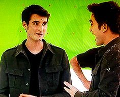 Rob and his stunt double Paul Darnell