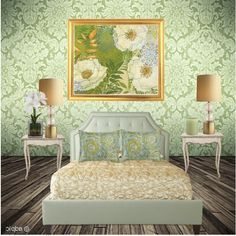 Cool Green, created by #tinyturtle73 on #polyvore. interior design