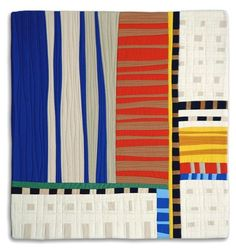Diane Melms is a contemporary art quilter living in Anchorage, Alaska and she designs and creates the most amazing quilts I have ever seen. Small Quilts, Mini Quilts, Quilt Modernen, Strip Quilts, Textiles, Contemporary Quilts, Traditional Quilts, Art Abstrait, Modern Fabric