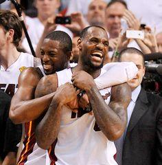 Lebron James and the Miami Heat. 2012 NBA Champions.