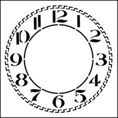 Clockface (Arabic) stencil
