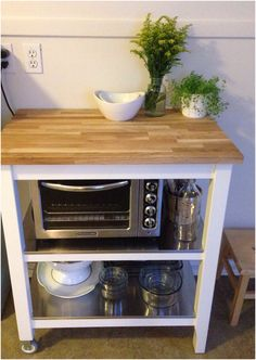 My new Ikea Stenstorp kitchen cart is everything I dreamed and more. More