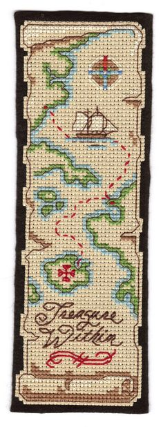 Treasure Map Cross Stitch bookmark may 2011 | Flickr - Photo Sharing!
