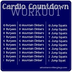 cardio workout #mamavation