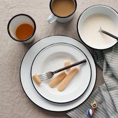 Enamelware Dinnerware Set - Black - $9.00
