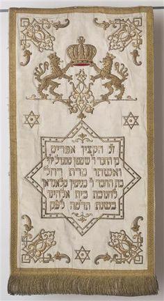 Torah mantle, Prague, 1885 (Jewish Museum in Prague)