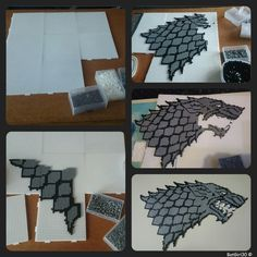 Dire Wolf - Game of Thrones hama beads by BatGirl30