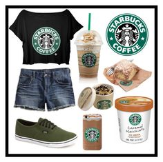 """""""#110 starbucks"""" by xjet1998x ❤ liked on Polyvore"""