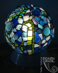 Garden Mosaics, Garden Globes, Cube, Fire, Mirrors, Glass, Atelier, Mesas, Yard Globe
