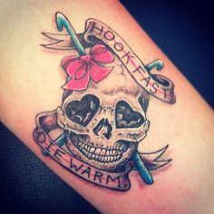 """Hook Fast, Die Warm"" Tattoo 