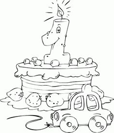 coloring book pages Colouring Pics, Coloring Book Pages, Printable Coloring Pages, Coloring Pages For Kids, Hand Embroidery Designs, Embroidery Patterns, Outline Drawings, Applique Templates, Birthday Images
