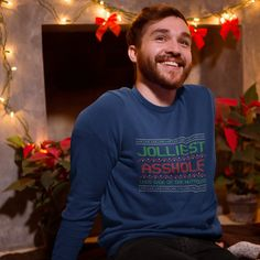 Christmas Vacation Jolliest Asshole Unisex Heavy Blend Crewneck Sweatshirt by LaVerneClothing on Etsy