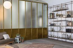 Frankford Panel Wall System in brass!