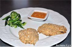 Sardines pannée et sa sauce epicée, tagliatelles de courgettes