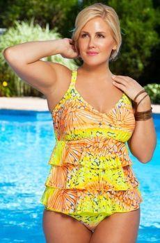 Women's Plus Size Swimwear - Always For Me Chic Prints Tutti Frutti Tankini Style #AFM404 - Sizes 16W-26W - JUST ARRIVED