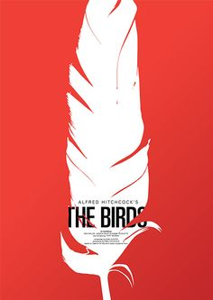 """Saul Bass """"The Birds"""" movie poster. Ok, so this is Saul Bass . Best Movie Posters, Cool Posters, Film Posters, Art Posters, Graphisches Design, Buch Design, Design Ideas, Clever Design, Gig Poster"""