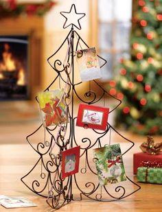 metal christmas tree card holder christmas tree pinterest
