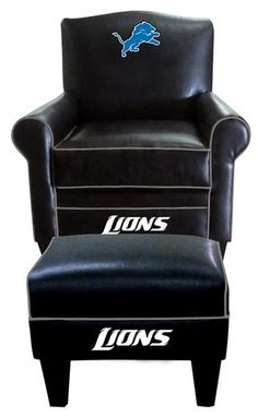 Use this Exclusive coupon code: PINFIVE to receive an additional 5% off the Detroit Lions Leather Game Time Chair and Ottoman at SportsFansPlus.com
