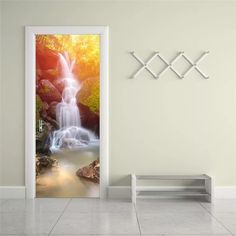 Purchase Door Sticker New DIY PVC Waterproof Door Wall Mural Waterfalls from QingdaoMegasaveInternationalCO on OpenSky. Share and compare all Home. Vinyl Wall Art, 3d Wall, Living Furniture, Living Room Decor, Furniture Sets, Buddha Decor, Wallpaper Stickers, Room Wallpaper, Door Murals