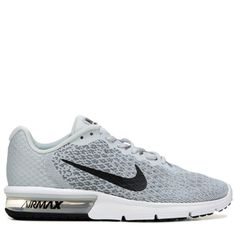 Nike Men s Air Max Sequent 2 Running Shoes (Grey Black) aa82c461029f