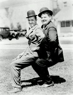 Stan Laurel and Oliver Hardy the popular comedy team during the early Classical Hollywood era of American cinema, in - Vintage Hollywood, Hollywood Fashion, Golden Age Of Hollywood, Classic Hollywood, Laurel And Hardy, Stan Laurel Oliver Hardy, Great Comedies, Classic Comedies, Classic Movies