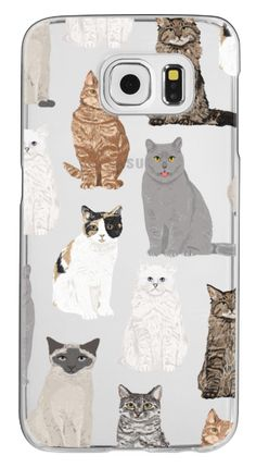 Casetify Galaxy S6 Classic Snap Case - Cat breeds must have cat lady gifts unique one of a kind transparent cell phone case pet friendly designs  by Pet Friendly #Casetify