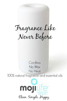Fragrances like never before! No wax, no heat, cordless, essential oils, fragrance