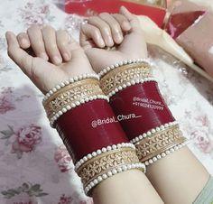Bridal Bangles, Bridal Jewellery, Silver Bangles, Wedding Jewelry, Indian Jewelry Earrings, Jewelry Design Earrings, Jewelry Accessories, Wedding Chura, Bridal Chuda