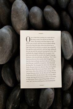 Letterpress story book wedding invitation