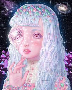 "artisafeeling: "" Diamond Dream Crystal Dream Planet -Saccstry Tumblr Deviant Art Facebook """