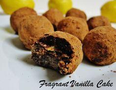 Dark Chocolate Chia Lemon Truffles