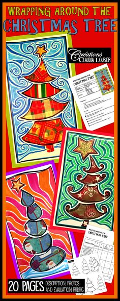 Here's an original way to create a Christmas artwork with your students. This is a perfect project for making a wish card. You will need simple materials like felt markers, regular coloured markers and Christmas wrapping paper. As for all my projects, the document includes a description of all the steps of the approach, explanatory pictures and an evaluation chart. Six examples of fir tree are also included, to value diversity among the achievements of the students.