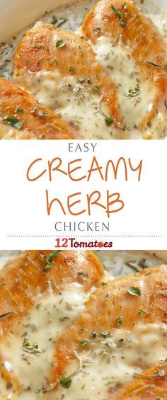 Creamy Herb Chicken | Recipe
