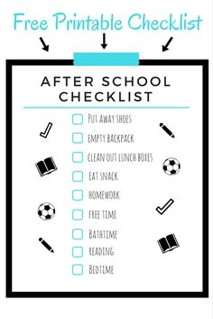 Insane image pertaining to after school schedule printable