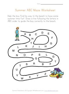 Summer ABC Order Worksheet