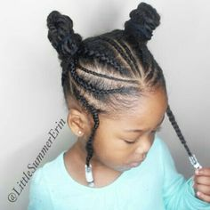Little Black Girls Hairstyles Connected Sections And Braidsgreat Protective Hairstyle For Little