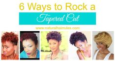 The tapered cut can bring a taste of personality to our kinks and curls. If you are hesitant to go short thinking you'll be limited, check out these styles!