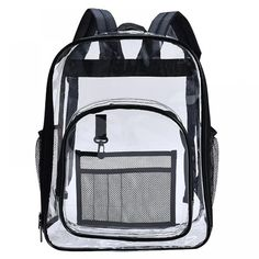 2019 New Clear Backpack Transparent PVC Shoulder Waterproof Women Adults Students See Through Bookbag Knapsack Laptop Price: 30.00 & FREE Shipping #online #shopping #market #electronics4 #pets #fitness #home #personal #beauty #bags #mobile #camera #jewellery #car #books #toys #kids #fashion Shoulder Bags For School, School Bags For Girls, Girls Bags, Canvas Backpack, Backpack Bags, Fashion Backpack, Travel Backpack, Clear Backpacks, Cool Backpacks