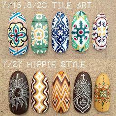 tile art nails