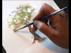 """Watercolour demo - Aquarelle """"How to paint trees Part II"""" Black Art Painting, Watercolor Art Paintings, Watercolor Pictures, Watercolor Tips, Modern Art Paintings, Watercolour Tutorials, Watercolor Techniques, Watercolor Cards, Watercolor Landscape"""