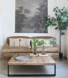 Mesa cuadrada metal y madera Mesa Sofa, Living Room, House, Inspiration, Home Decor, Furnitures, Centre, Tables, Wood Tables
