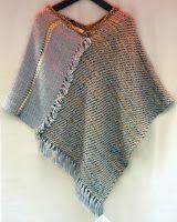 poncho de lana, varias posturas