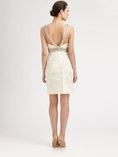 Sue Wong Beaded Dress in White (ivory)