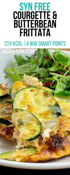 Syn Free Courgette & Butterbean Frittata | Pinch Of Nom Slimming World Recipes 224 kcal | Syn Free | 4 Weight Watchers Smart Points