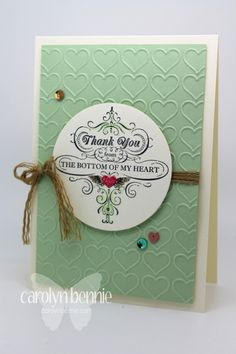 From my heart - Australian Independent Stampin' Up! Demonstrator Carolyn Bennie