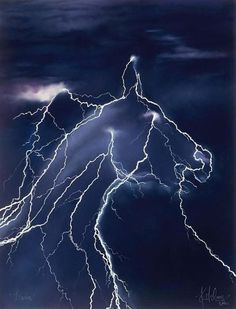 lightning strike horse head -Sure this is photoshoped, but I just thought it was pretty cool!