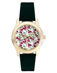 ASOS - Montre-bracelet à cadran orné de fleurs