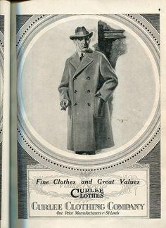 #artdeco #illustrated #menswear advertisement #stl #stlouis #1920s #oldads #index #history #fashion #fashionhistory #b2b #marketing #advertising