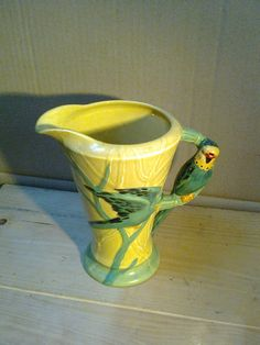 Burleigh Ware art deco syle Jug With Parrot Handle