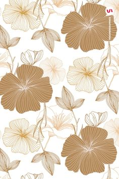 This product is also part of a Bundle, see here Introducing the Elegant Flower Patterns a set of Seamless Vector Patterns and Vector Floral Compositions created Hand Drawn Flowers, Iphone Background Wallpaper, Elegant Flowers, Motif Floral, Flower Backgrounds, Floral Illustrations, Pretty Wallpapers, Pattern Art, Vector Pattern